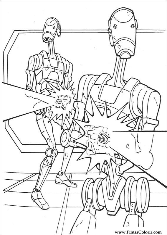 Disegni Per Dipingere Colour Star Wars Stampare Realizzazione 105
