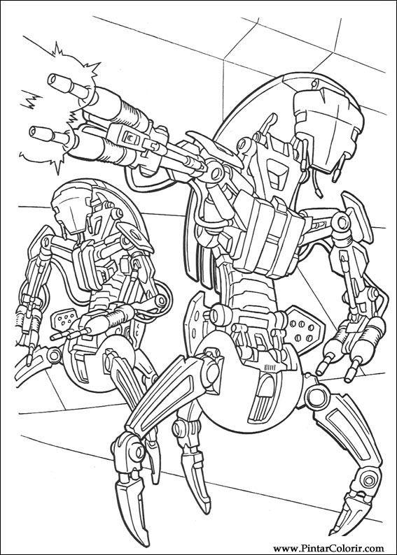 Desenhos Para Pintar E Colorir Star Wars Imprimir Desenho 106