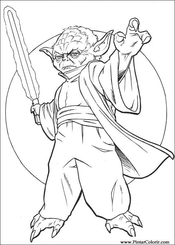 Desene Pentru Paint și Culoare Star Wars Print Design 134