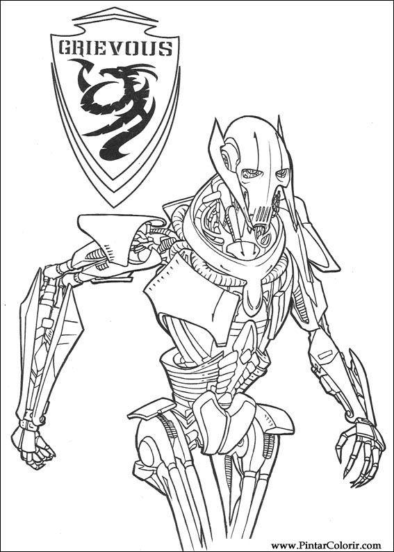 Desene Pentru Paint și Culoare Star Wars Print Design 137