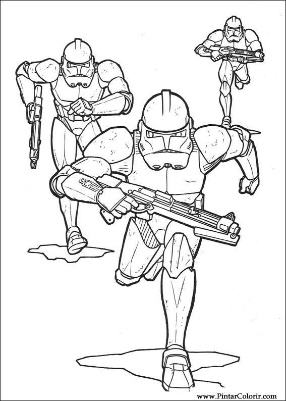 Desene Pentru Paint și Culoare Star Wars Print Design 144