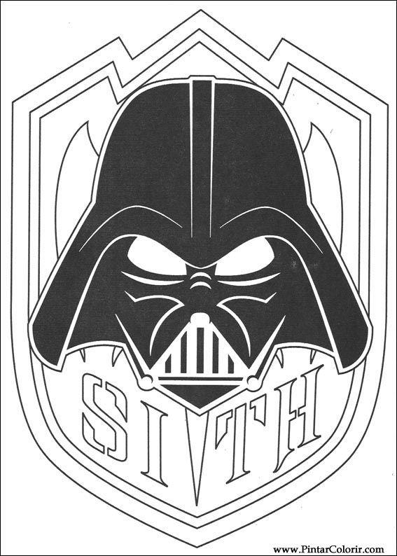 disegni per dipingere  colour star wars  stampare