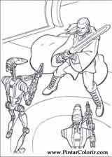 Pintar e Colorir Star Wars - Desenho 001