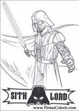 Pintar e Colorir Star Wars - Desenho 147