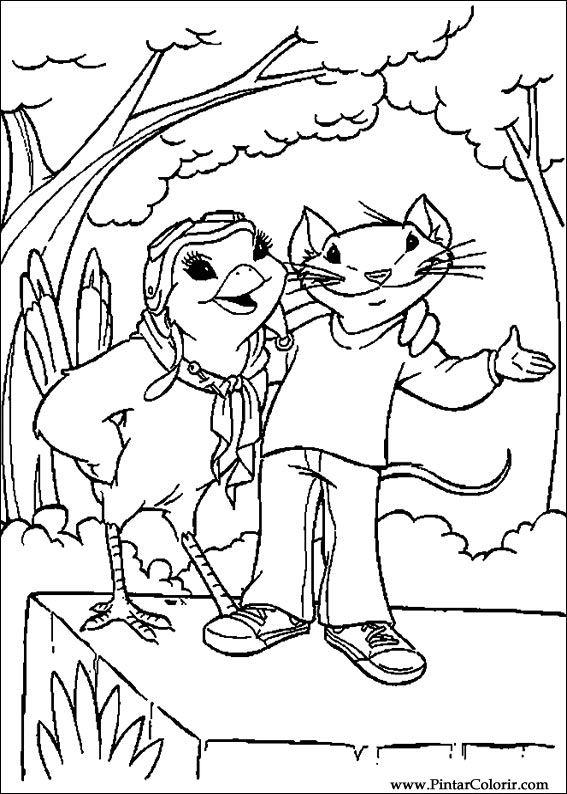 Desenhos Para Pintar E Colorir Stuart Little Imprimir Desenho 016