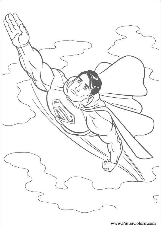 çizimler Boya Ve Renk Superman Için Baskı Tasarım 001