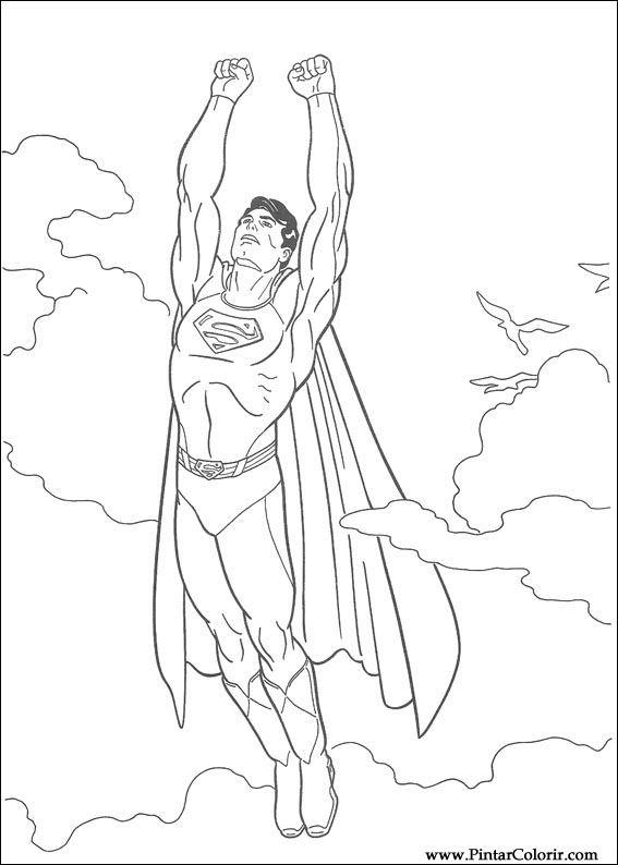 çizimler Boya Ve Renk Superman Için Baskı Tasarım 003