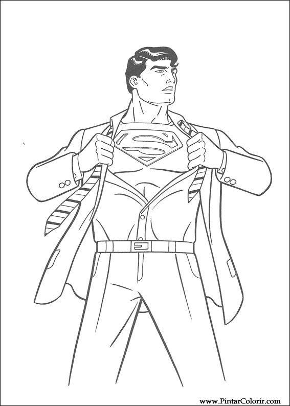 çizimler Boya Ve Renk Superman Için Baskı Tasarım 006