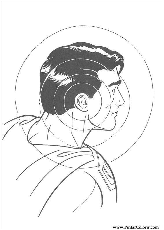 çizimler Boya Ve Renk Superman Için Baskı Tasarım 007