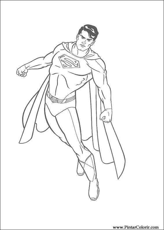 çizimler Boya Ve Renk Superman Için Baskı Tasarım 014