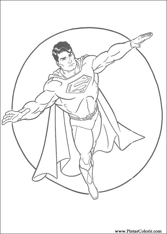 çizimler Boya Ve Renk Superman Için Baskı Tasarım 016