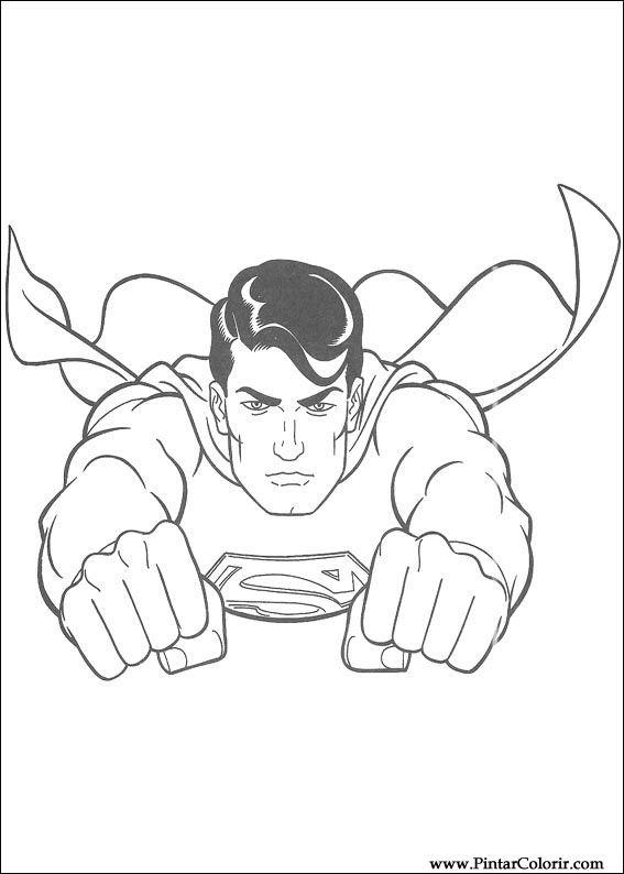 çizimler Boya Ve Renk Superman Için Baskı Tasarım 019