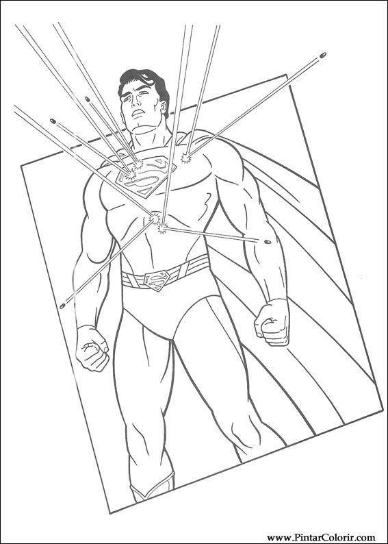 çizimler Boya Ve Renk Superman Için Baskı Tasarım 026