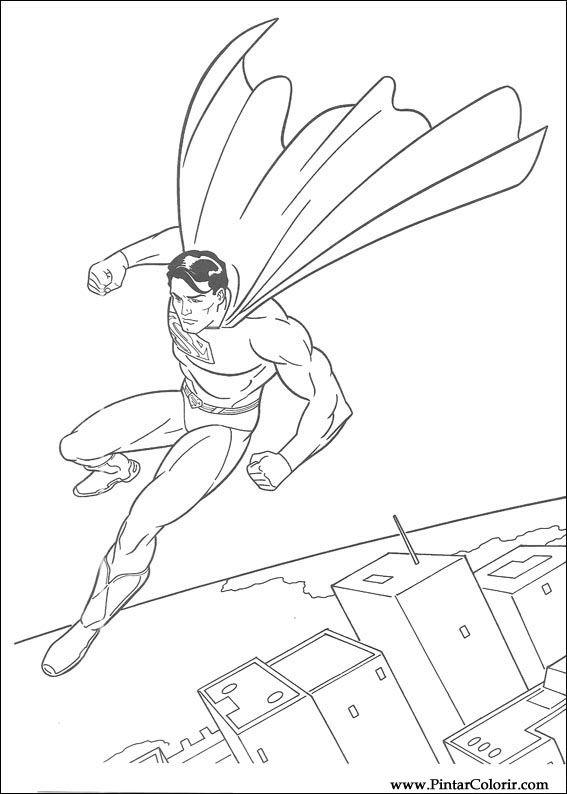 çizimler Boya Ve Renk Superman Için Baskı Tasarım 031