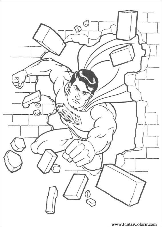 çizimler Boya Ve Renk Superman Için Baskı Tasarım 033