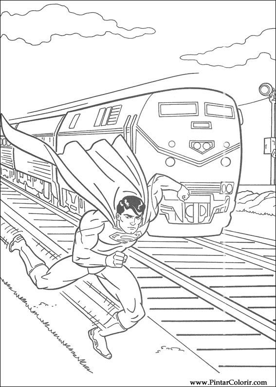 çizimler Boya Ve Renk Superman Için Baskı Tasarım 038