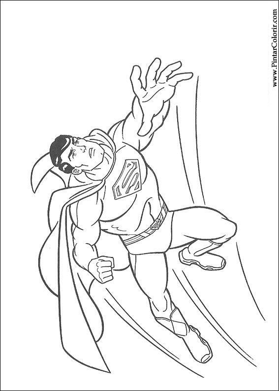 çizimler Boya Ve Renk Superman Için Baskı Tasarım 040