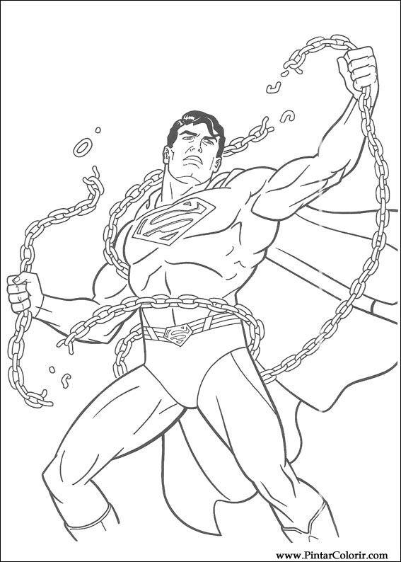 çizimler Boya Ve Renk Superman Için Baskı Tasarım 042