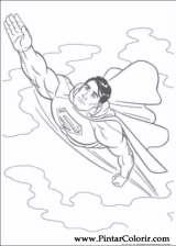 Pintar e Colorir Super Homem - Desenho 001