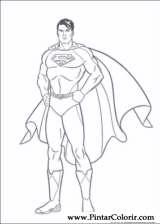 çizimler Boya Ve Superman Boyama Için