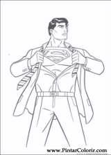 Pintar e Colorir Super Homem - Desenho 006