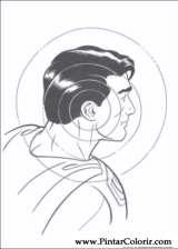 Pintar e Colorir Super Homem - Desenho 007