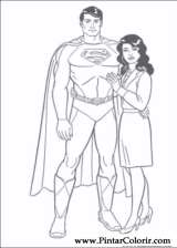 Superman Boyama Sayfaları