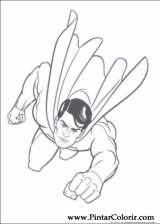 Pintar e Colorir Super Homem - Desenho 013