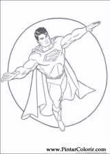 Pintar e Colorir Super Homem - Desenho 016