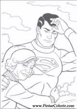 Pintar e Colorir Super Homem - Desenho 022