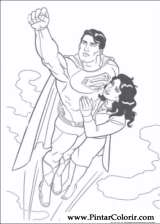 Pintar e Colorir Super Homem - Desenho 024