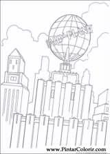 Pintar e Colorir Super Homem - Desenho 025