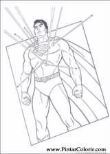 Pintar e Colorir Super Homem - Desenho 026