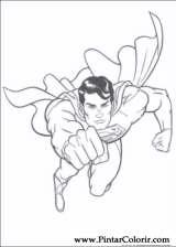 Pintar e Colorir Super Homem - Desenho 028