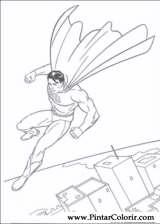 Pintar e Colorir Super Homem - Desenho 031
