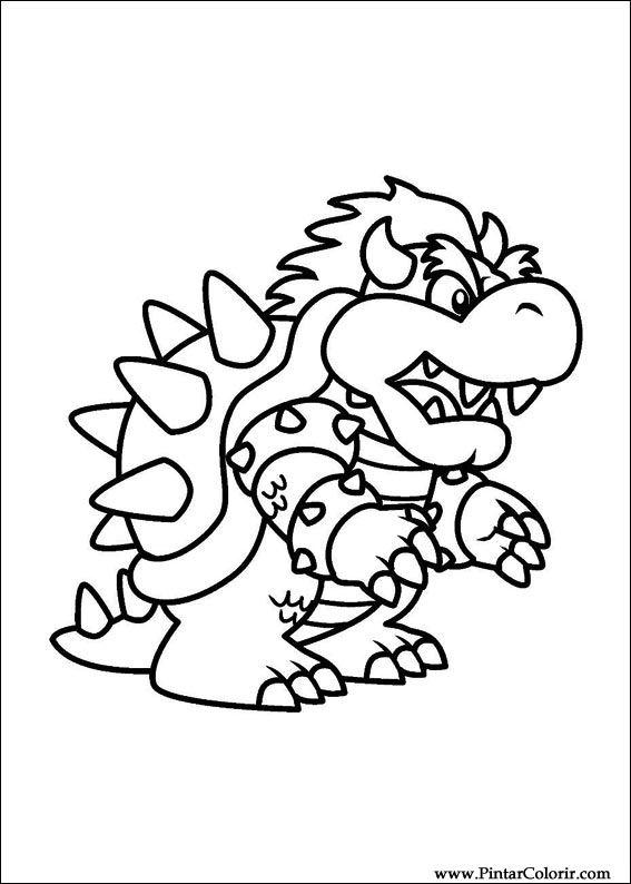 Dibujos Para Pintar Y Color Super Mario Bros Diseño De Impresión 009