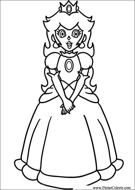 Desenhos Para Pintar E Colorir Super Mario Bros Imprimir Desenho 030