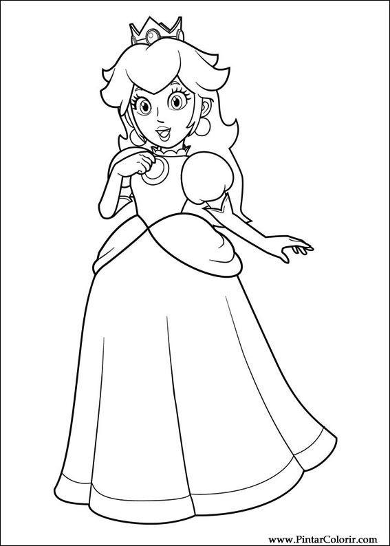 Dibujos Para Pintar Y Color Super Mario Bros Diseño De Impresión 031