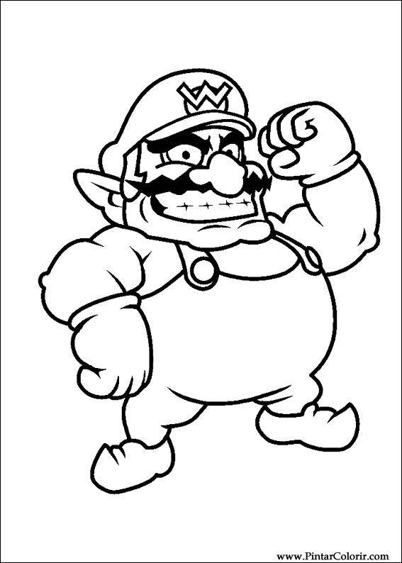 Dibujos Para Pintar Y Color Super Mario Bros Diseño De Impresión 037