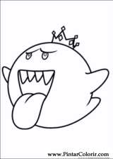 Pintar e Colorir Super Mario Bros - Desenho 001
