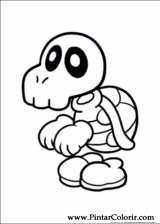 Pintar e Colorir Super Mario Bros - Desenho 003