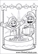 Pintar e Colorir Super Mario Bros - Desenho 004