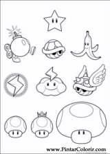 Pintar e Colorir Super Mario Bros - Desenho 005