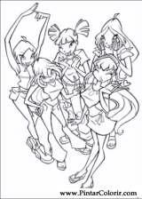 Pintar e Colorir Winx Club - Desenho 001