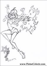Pintar e Colorir Winx Club - Desenho 002